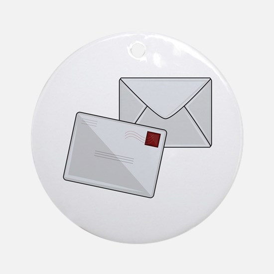 Letter & Envelope Round Ornament