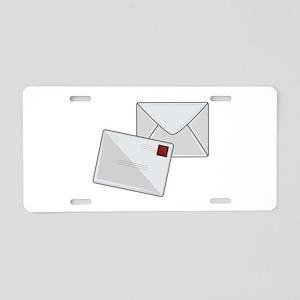 Letter & Envelope Aluminum License Plate