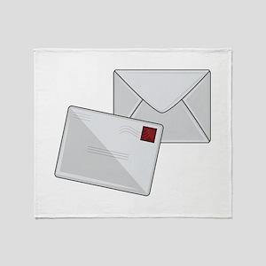 Letter & Envelope Throw Blanket