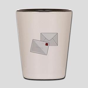 Letter & Envelope Shot Glass