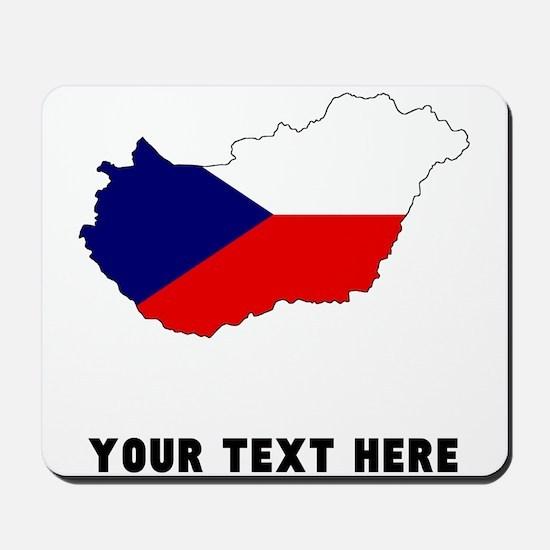 Czech Flag Silhouette (Custom) Mousepad