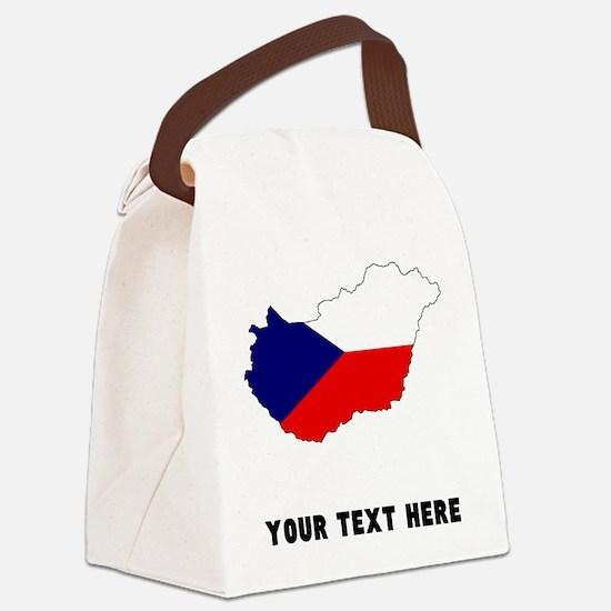 Czech Flag Silhouette (Custom) Canvas Lunch Bag