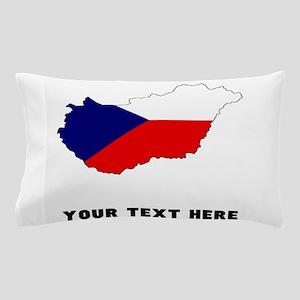 Czech Flag Silhouette (Custom) Pillow Case
