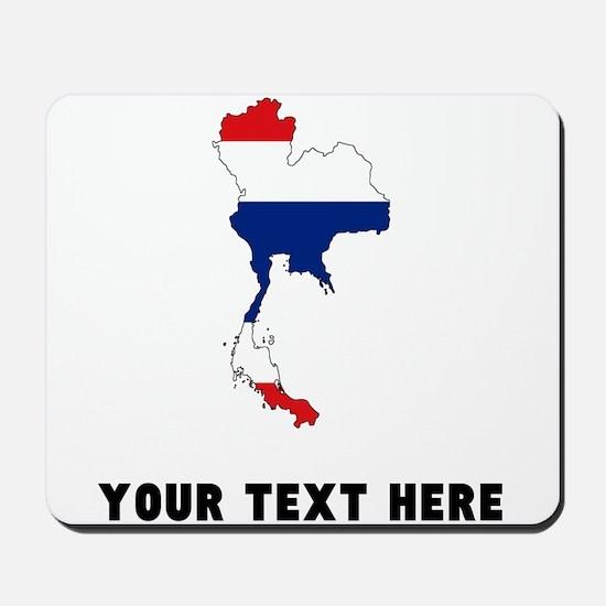 Thai Flag Silhouette (Custom) Mousepad