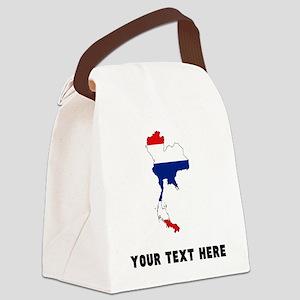 Thai Flag Silhouette (Custom) Canvas Lunch Bag