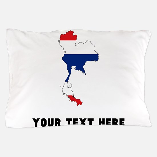 Thai Flag Silhouette (Custom) Pillow Case