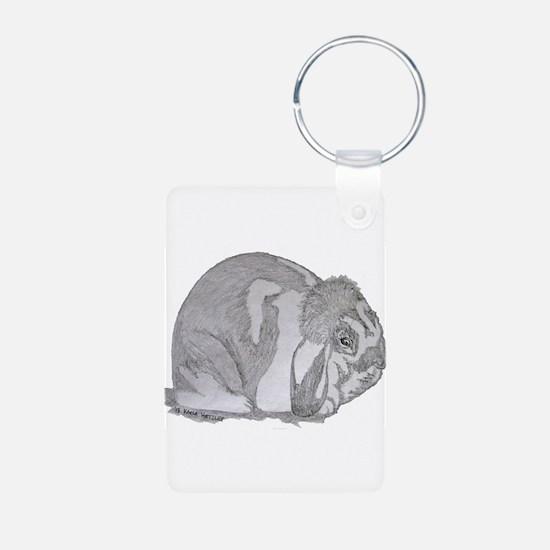 Mini Lop By Karla Hetzler Keychains