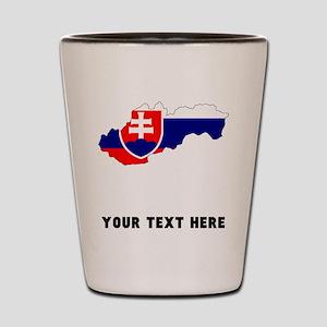 Slovakian Flag Silhouette (Custom) Shot Glass