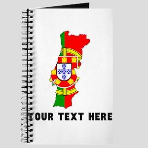 Portuguese Flag Silhouette (Custom) Journal