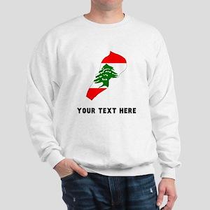 Lebanese Flag Silhouette (Custom) Sweatshirt
