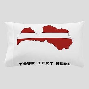 Latvian Flag Silhouette (Custom) Pillow Case