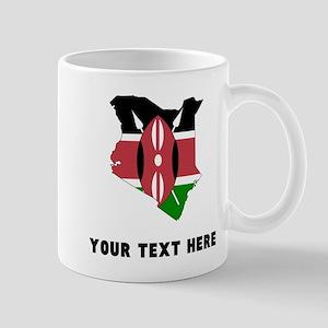 Kenyan Flag Silhouette (Custom) Mugs