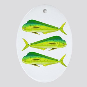 Mahi-Mahi Dolphinfish 3 Oval Ornament