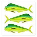 Mahi-Mahi Dolphinfish 3 Square Car Magnet 3