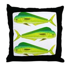 Mahi-Mahi Dolphinfish 3 Throw Pillow