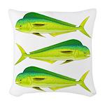 Mahi-Mahi Dolphinfish 3 Woven Throw Pillow