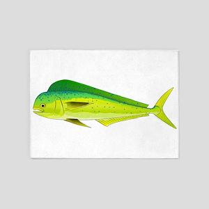 Mahi-Mahi Dolphinfish 3 5'x7'Area Rug