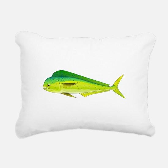 Mahi-Mahi Dolphinfish 3 Rectangular Canvas Pillow