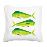 Mahi-Mahi Dolphinfish 3 Square Canvas Pillow