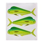 Mahi-Mahi Dolphinfish 3 Throw Blanket