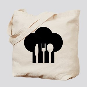 Chef hat fork knife spoon Tote Bag
