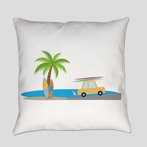 Surfer Beach Everyday Pillow