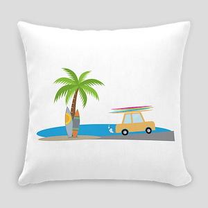 Surfer Beach Everyday Pillow