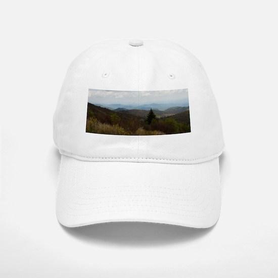 North Carolina Mountain Range Baseball Baseball Cap