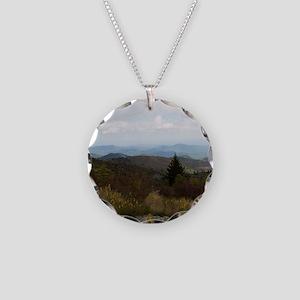 North Carolina Mountain Rang Necklace Circle Charm