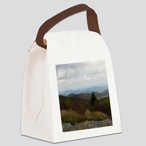North Carolina Mountain Range Canvas Lunch Bag