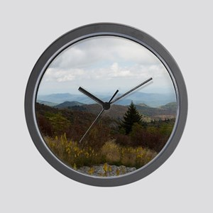 North Carolina Mountain Range Wall Clock