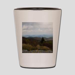North Carolina Mountain Range Shot Glass