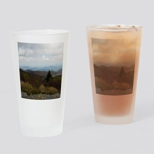 North Carolina Mountain Range Drinking Glass