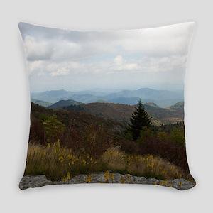 North Carolina Mountain Range Everyday Pillow