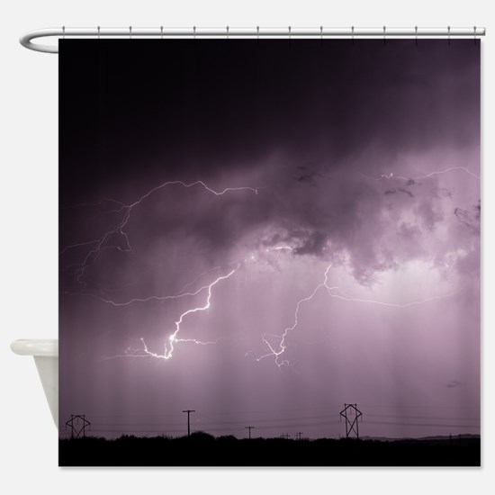 Cute Lineman Shower Curtain