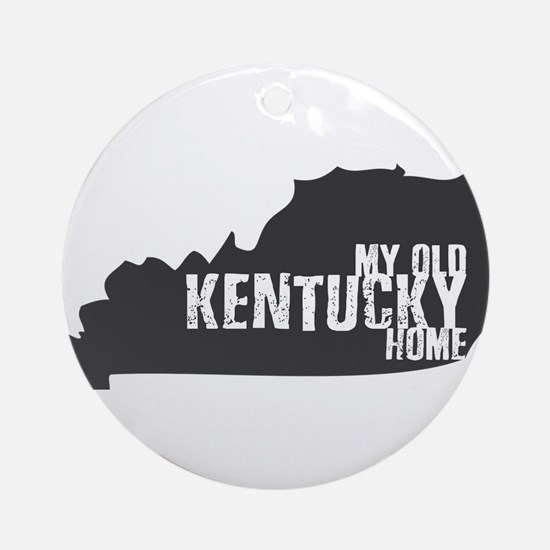 My Old Kentucky Home Round Ornament