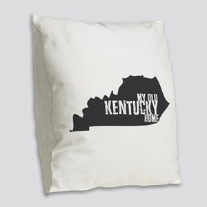 My Old Kentucky Home Burlap Throw Pillow