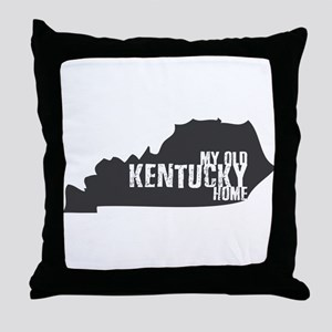 My Old Kentucky Home Throw Pillow