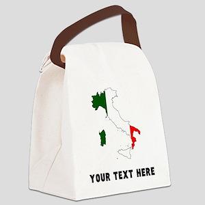 Italian Flag Silhouette (Custom) Canvas Lunch Bag