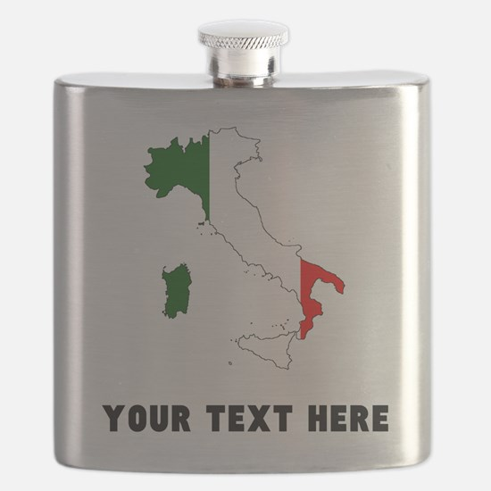 Italian Flag Silhouette (Custom) Flask