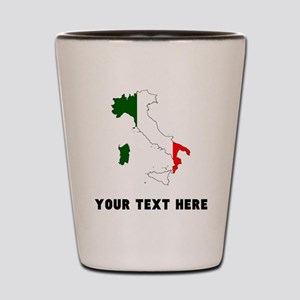 Italian Flag Silhouette (Custom) Shot Glass