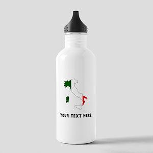 Italian Flag Silhouette (Custom) Water Bottle
