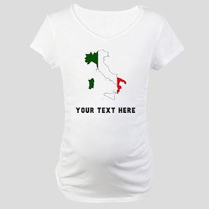 Italian Flag Silhouette (Custom) Maternity T-Shirt