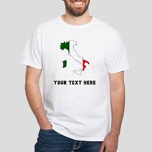Italian Flag Silhouette (Custom) T-Shirt