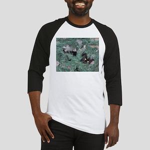 Black Cat in Christmas Tree Baseball Jersey