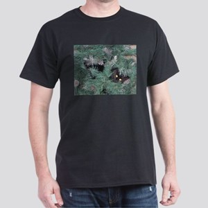 Black Cat in Christmas Tree T-Shirt