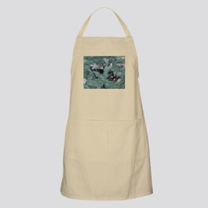 Black Cat in Christmas Tree Apron