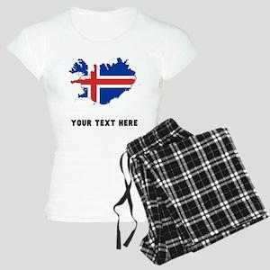 Icelandic Flag Silhouette (Custom) Pajamas