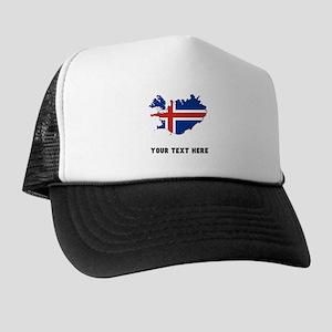 Icelandic Flag Silhouette (Custom) Trucker Hat