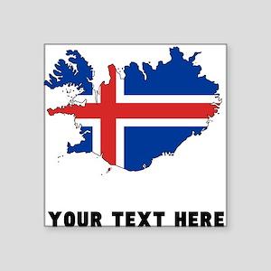 Icelandic Flag Silhouette (Custom) Sticker